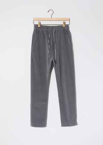 Velvet Basic Trousers — Gray