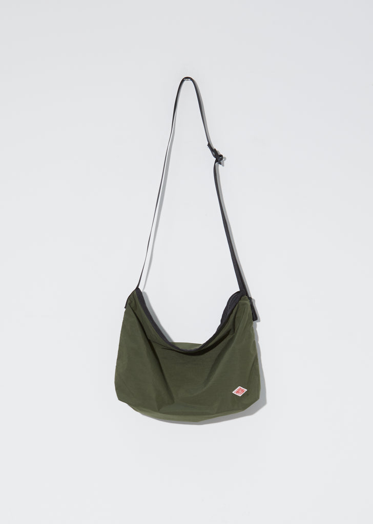 Nylon Tassaer Utility Bag — Khaki Green