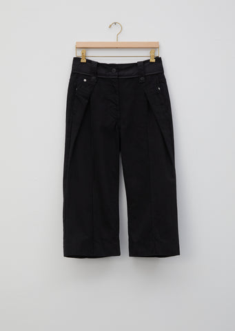 Denim & Taffeta Pants