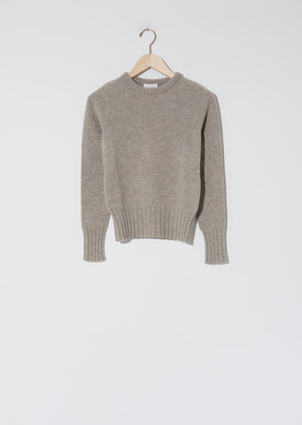 Fitted Sweater — Wisp Grey