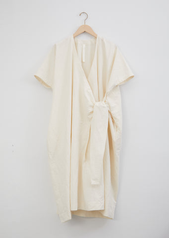 Wrap Caftan — Raw White