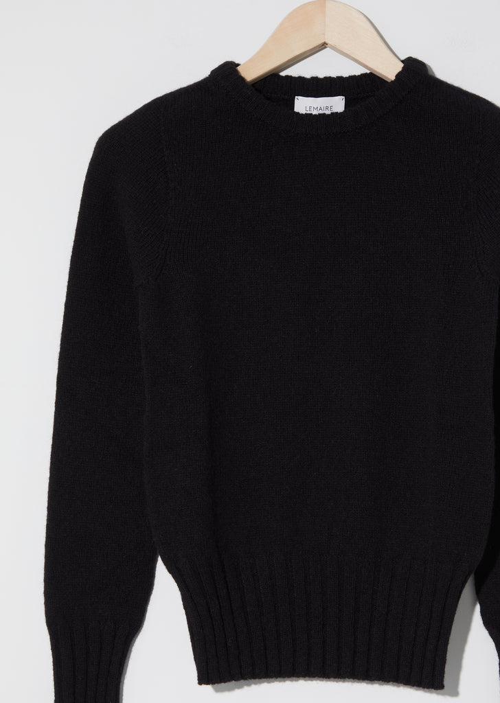 Fitted Sweater — Black