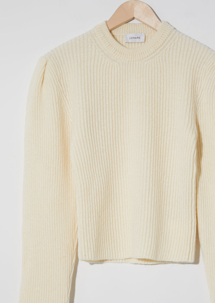 Puffy Sleeves Sweater — Chalk