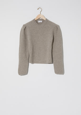 Puffy Sleeves Sweater — Wisp Grey