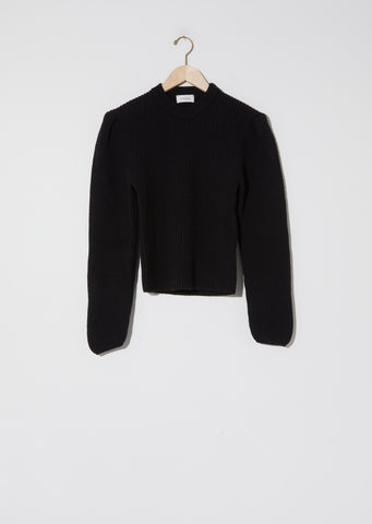 Puffy Sleeves Sweater — Black