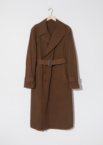 Unisex Cotton Trench Coat — Dark Brown