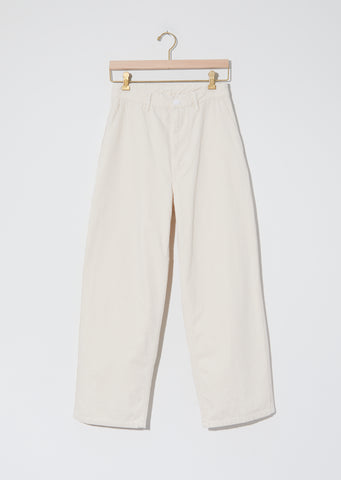 Women's Cotton Serge Work Pants — Ecru