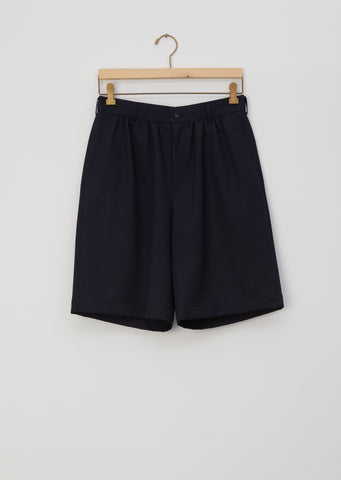Polyester and Wool Gabardine Shorts