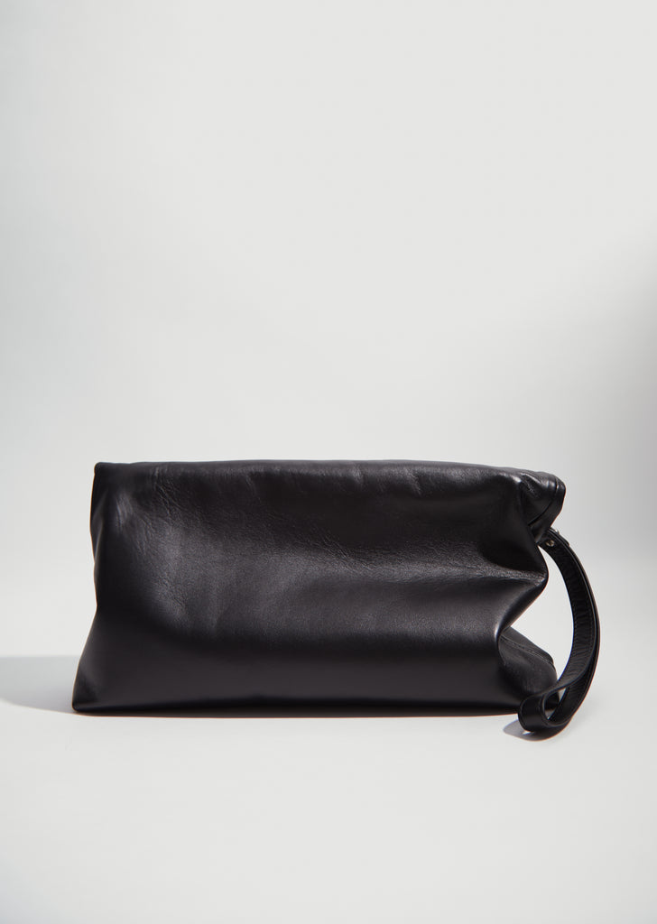 Folded Leather Clutch