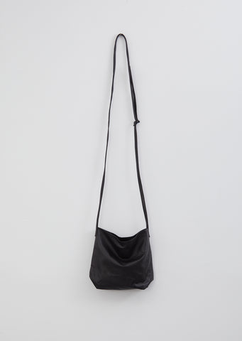 Medium Leather Bag — Fulton Black