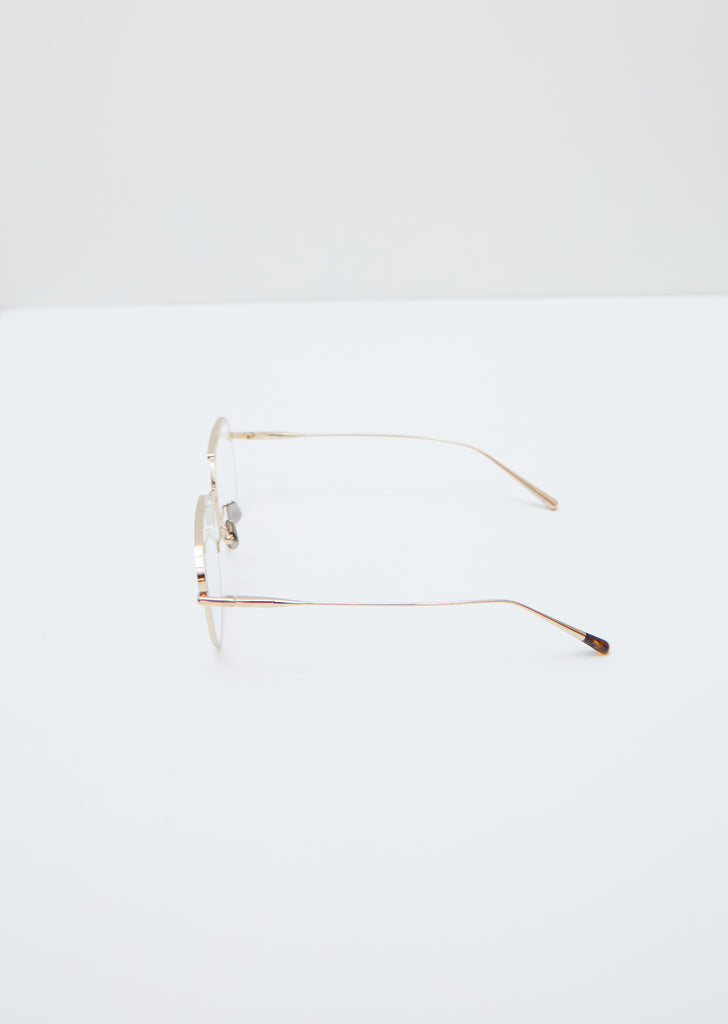 Glasses 024 — Gold / Clear