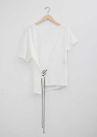 Asymmetrical Cotton Jersey T-Shirt — Off White