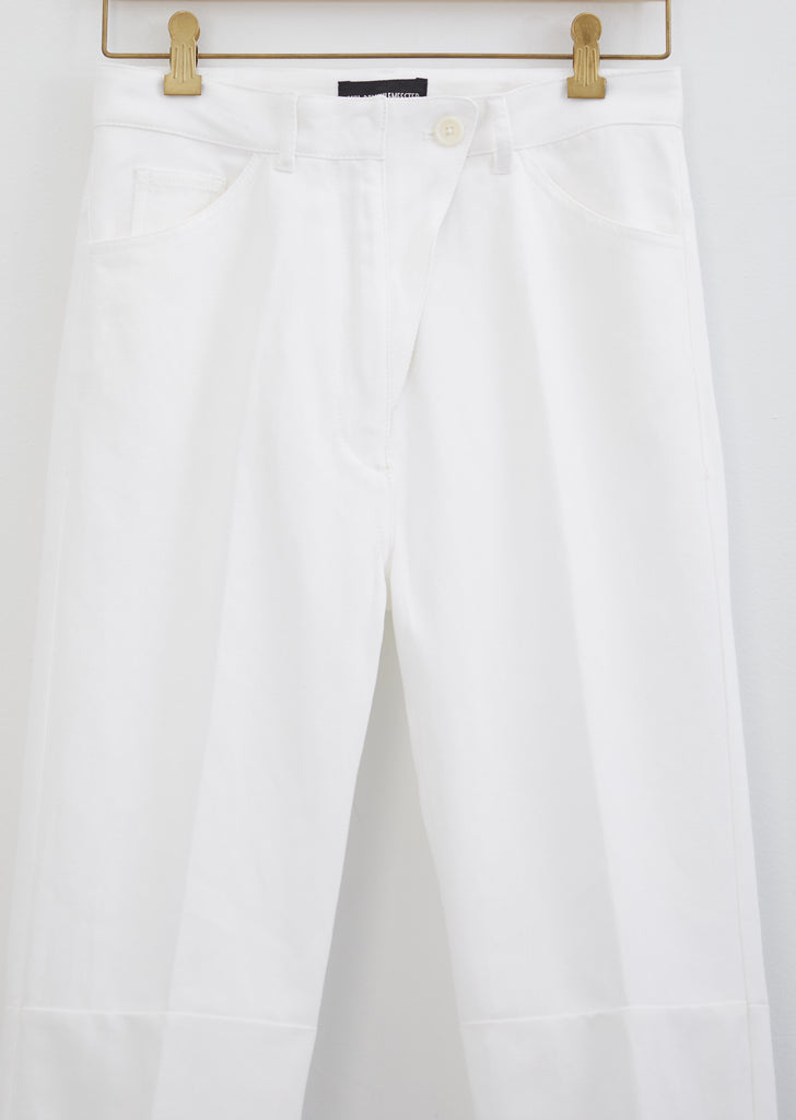 Cotton & Linen Denim Trousers