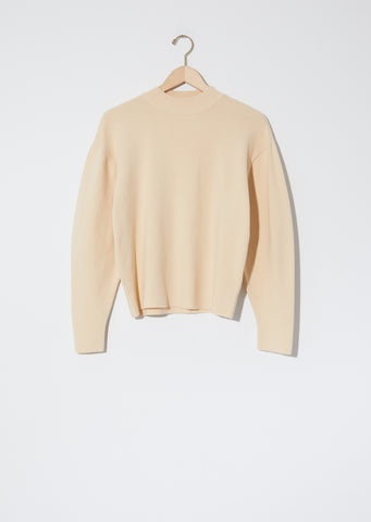 Mock Neck Sweater — Butter