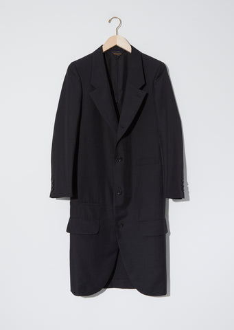 Long Gabardine Formal Coat