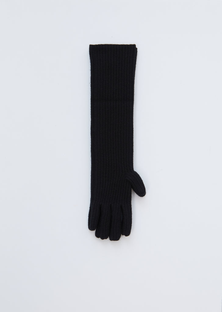 Alga Cashmere Gloves — Black