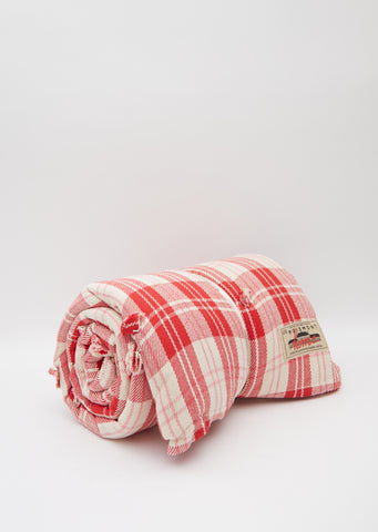 Cotton Check Futon — Pink
