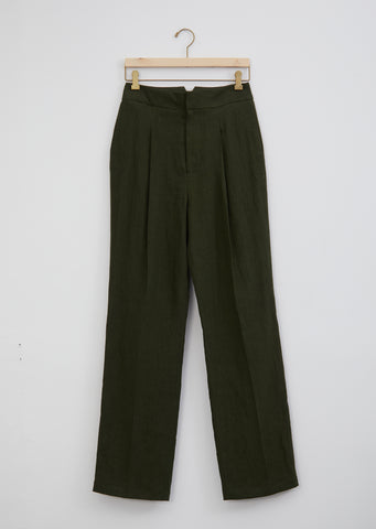 Pleated Linen Trouser