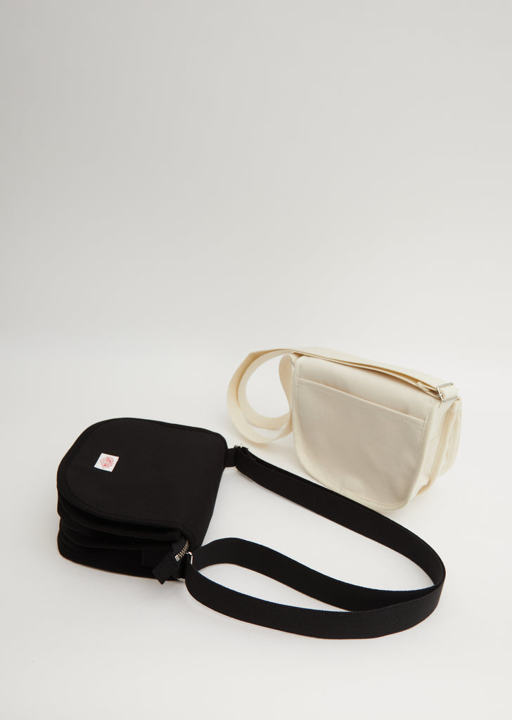 Canvas Crossbody Bag — Black