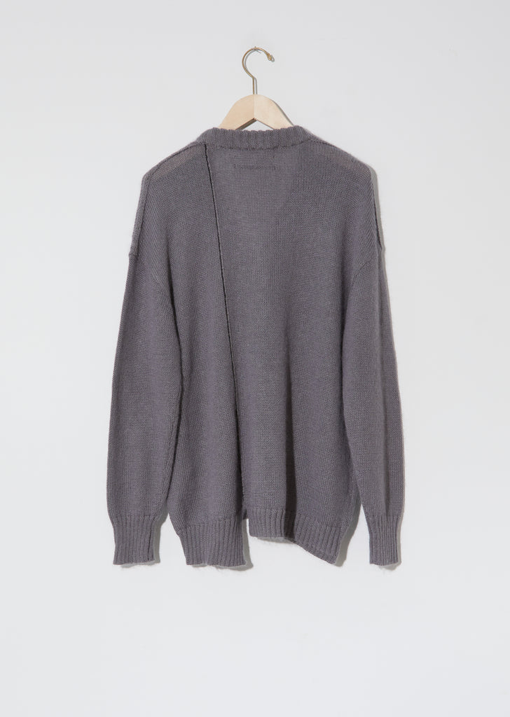 Lab Cardigan — Concrete
