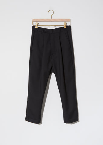 Alo Loose Pleat Pant — Black