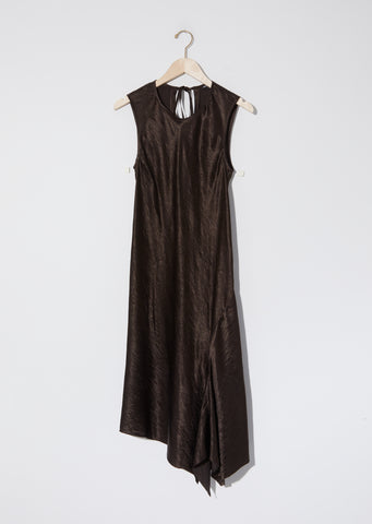 Lambeth Bias Asymmetrical Dress — Cigar
