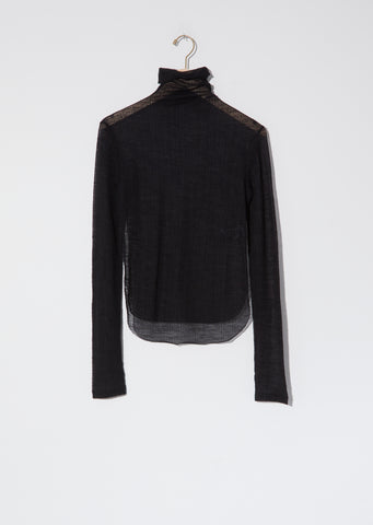 Fokine Sheer Turtleneck