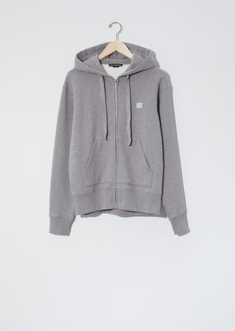 Unisex Ferris Zip Face Hoodie — Light Grey Melange