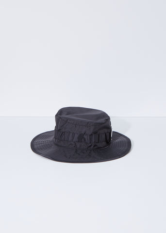 Unisex Brimm Plaque Face Bucket Hat