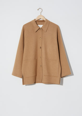 Wool and Cotton Blend Short Coat