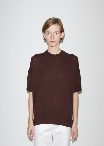 Cashmere Shortsleeve Sweater