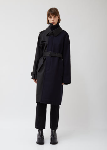 Wool Melton & Cotton Trench Coat