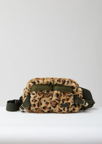 Leopard Faux Fur Waist Bag