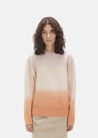Wool Cashmere Dip Sweater
