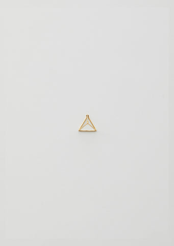 20MM 3D TRIANGLE EARRING