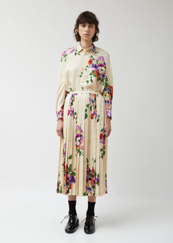 Silk Jacquard Flower Pattern Skirt