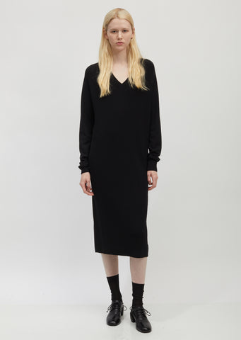 Ribbed Cotton and Silk Sweater Dress