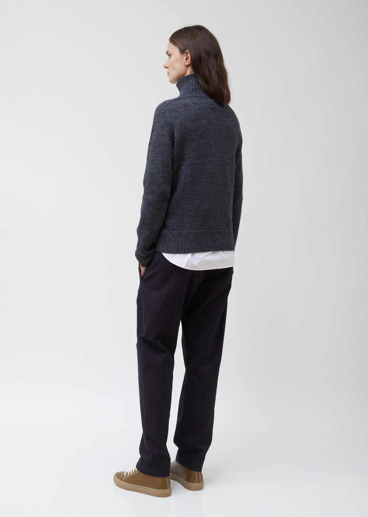 MHL Saddle Sleeve Roll Neck Wool Sweater