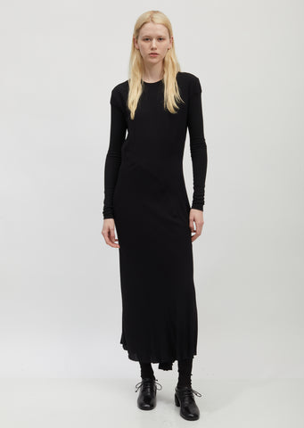 Bias-Cut Long Sleeve Dress