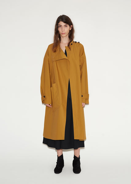 Cotton Highneck Overcoat