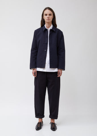 Heavy Cotton Twill Boxy Jacket