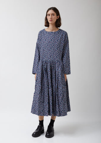 Pasha Rouch Dress in Navy Floral Print