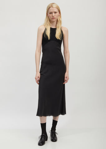 Ribbed Cotton and Silk Tank Dress