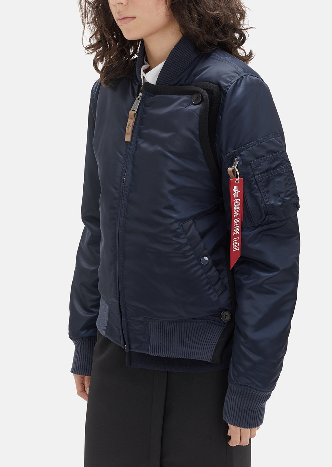 Alpha Industries Nylon Bomber Jacket