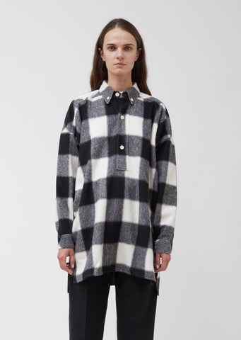 Black and White Checkered Pitch Shirt