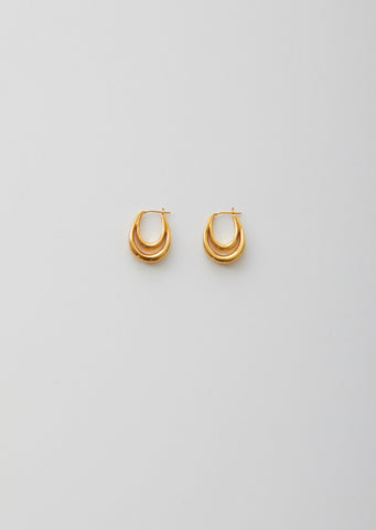 Gold Large Blanche Hoops