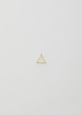 25MM 3D TRIANGLE EARRING