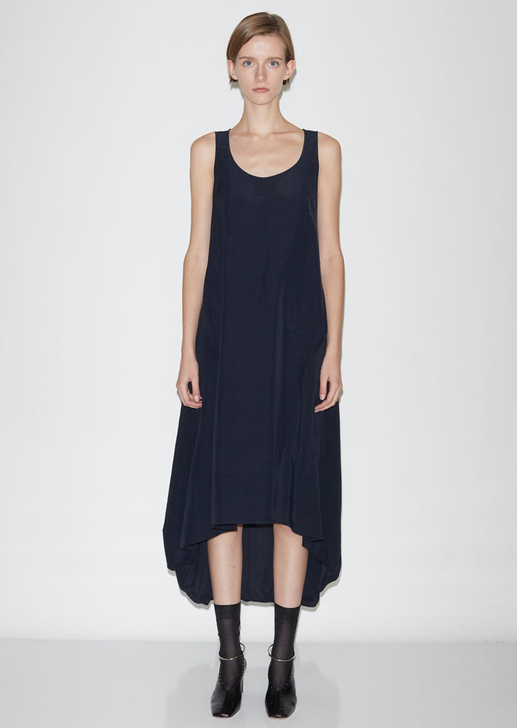 Masie Af - Textured Fluid Viscose and Linen Dress