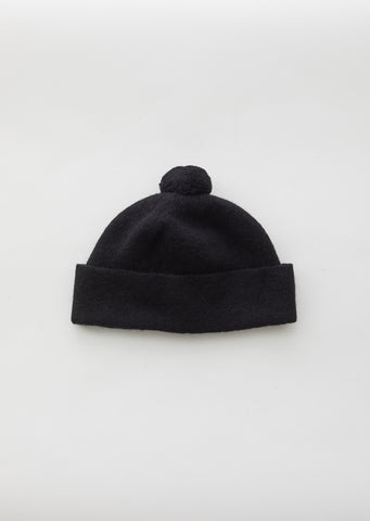 Black Felted Wool Hat