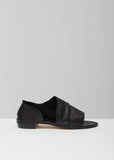 Cut-Out Leather Flats